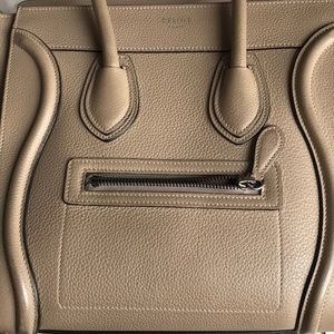 Celine Bags - CELINE MICRO luggage tote drummed DUNE TAUPE 😍 3a36fd2ad342d